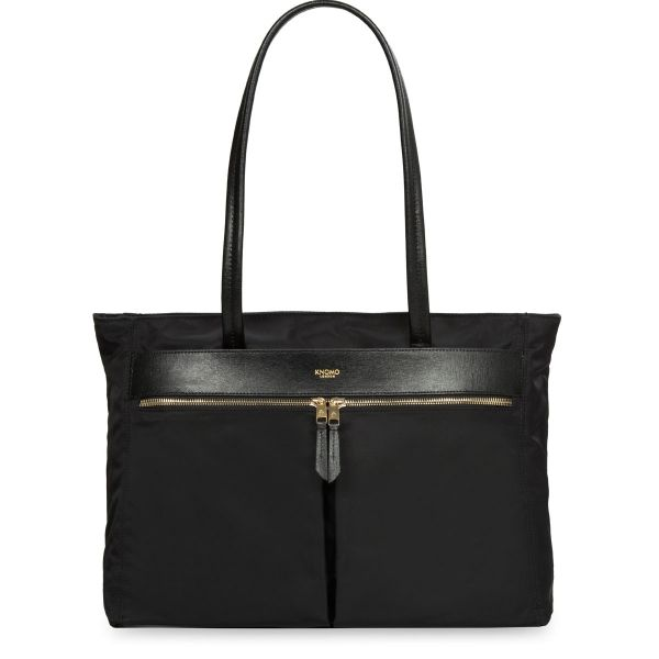 "Grosvenor Square Slim Tote from KNOMO: Official Store | Women's 15"" Laptop Bag | Black Shoulder Bag | Ladies Bags | Handbags | Tote | Designed by KNOMO London"
