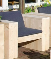 Stoel XL .... Scaffolding Wooden chair XL for indoor and outdoor