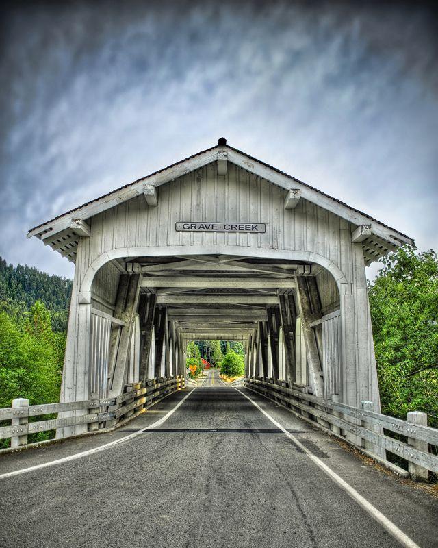 Grave Creek Covered Bridge, Oregon