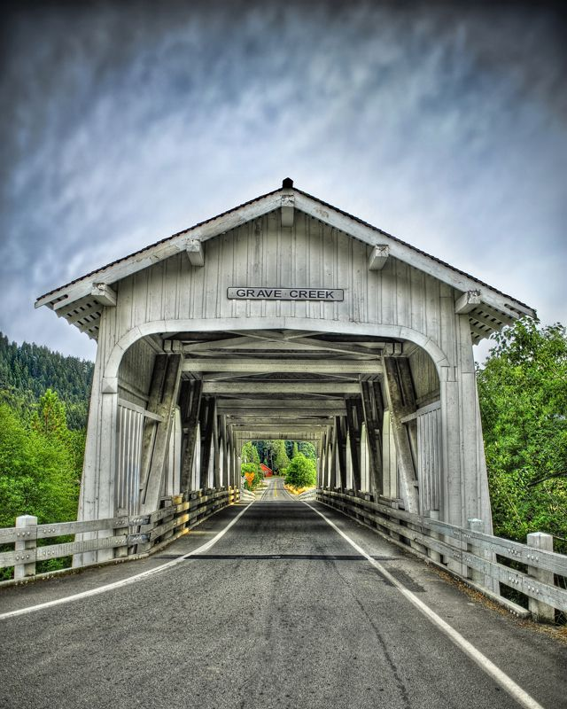 Grave Creek Covered Bridge, Oregon