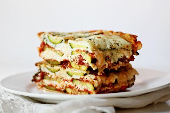 No Noodle Zucchini Lasagna-sayyestohoboken.com
