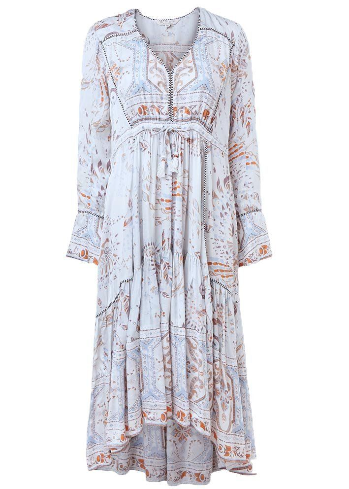 Odd Molly Lyseblå Kjole 317T-536 Hummingbird Long Dress - cloudy sky