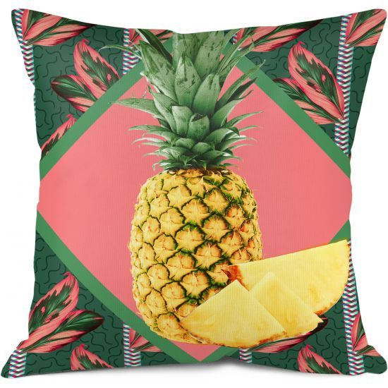 Housse Grand Coussin Ananas