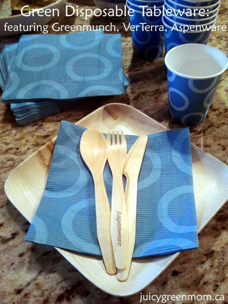 Looking for green eco-friendly disposable tableware? It's out there - and it's fantastic!