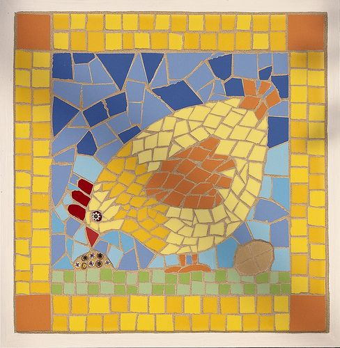17 best images about projet p ques on pinterest chicken for Egg mosaic design