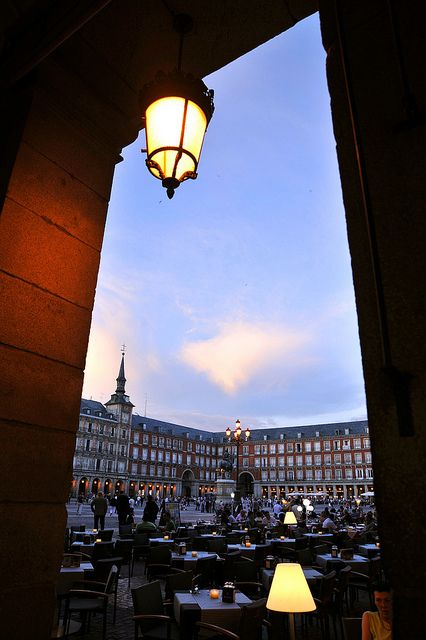 Plaza Mayor, Madrid, Spain...I spent my birthday in this fun part of Madrid a couple years ago.