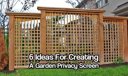 Garden Privacy Screen. If You Live In An Urban Area, Or