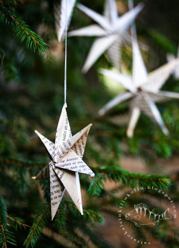 diy jouluaskartelu, paperiorigami taittelu