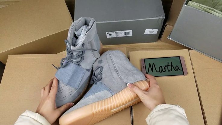 Classic/Cheap Yeezy 750 Grey Glow In The Dark gumsole Boost Unboxing Rev...