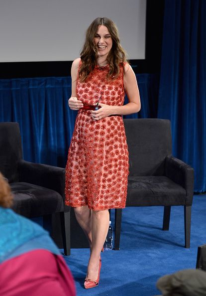 Keira Knightley attends The New York Times' TimesTalk & TIFF In Los Angeles Presents 'The Immitation Game' at The Paley Center for Media on February 16, 2015 in Beverly Hills, California.
