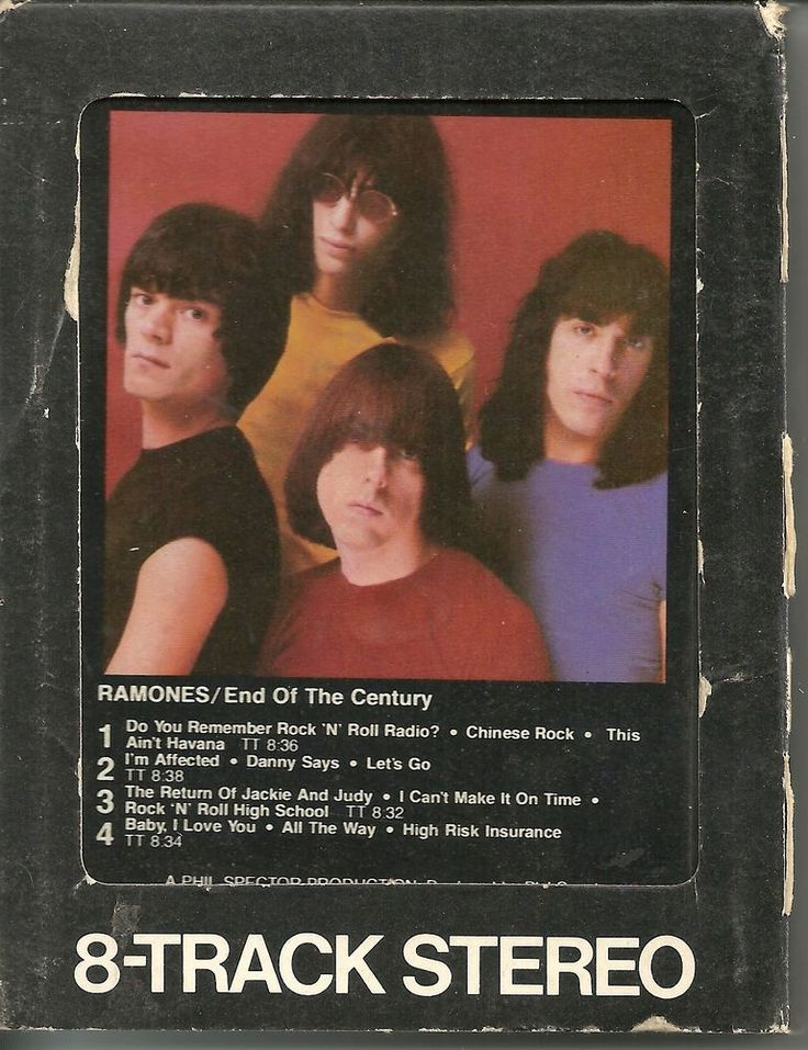 THE RAMONES End of the Century 8-Track 1980 Sire Records Phil Spector #PunkNewWave