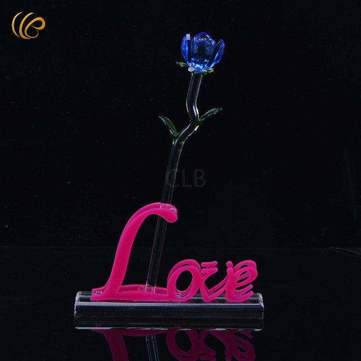 Blue Crystal Rose What Is The Meaning of Valentine's Day Romantic Rose Creative Funny Valentine Great Decorative Flowers