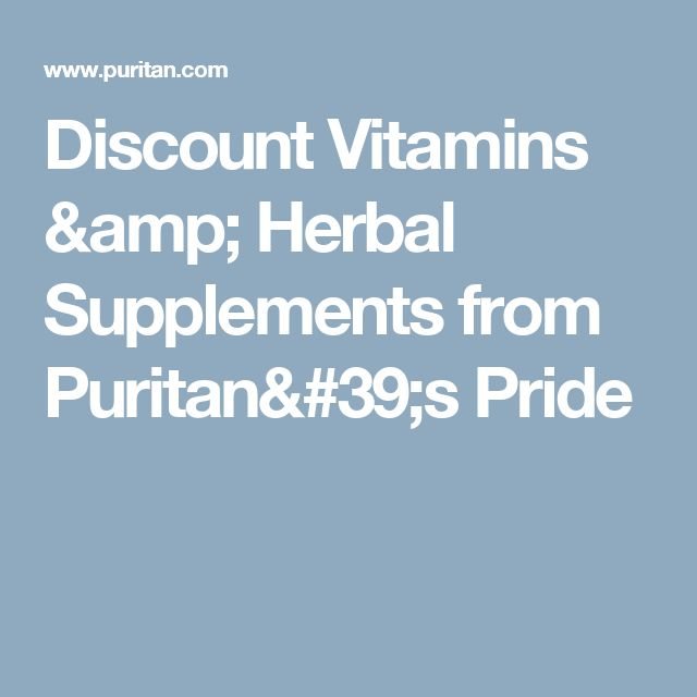 Discount Vitamins & Herbal Supplements from Puritan's Pride