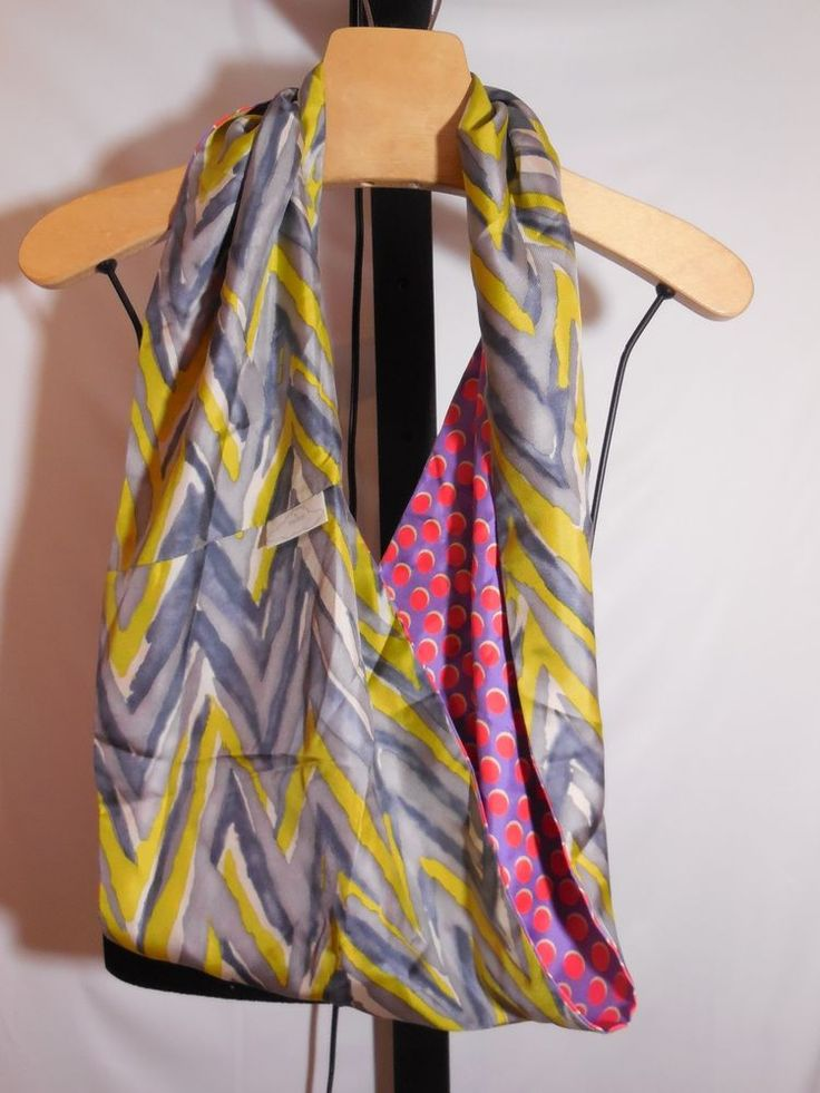 UPSIDE BY TUCKER 100% SILK REVERSIBLE COMBO PATTERN INFINITY SCARF  #UpsidebyTucker #Scarf