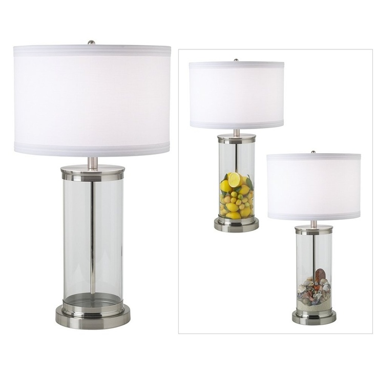 lamps glass table lamps beach crafts lamp bases for the home sea glass. Black Bedroom Furniture Sets. Home Design Ideas