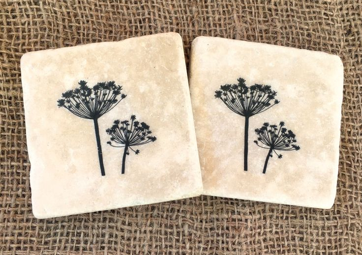 Beautiful  COW PARSLEY  natural stone tableware : encore stone tableware - pezcame.com
