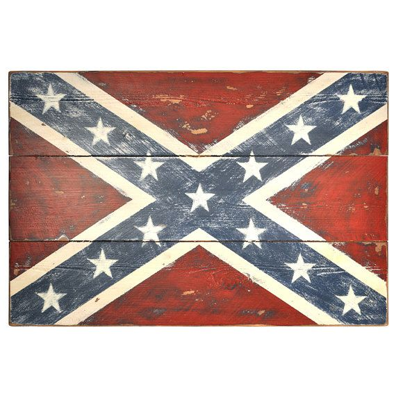 Confederate Flag Handmade From Rustic Sawmill By