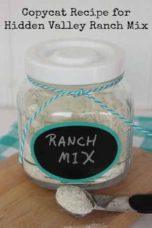 Hidden Valley Ranch Mix Copycat Recipe