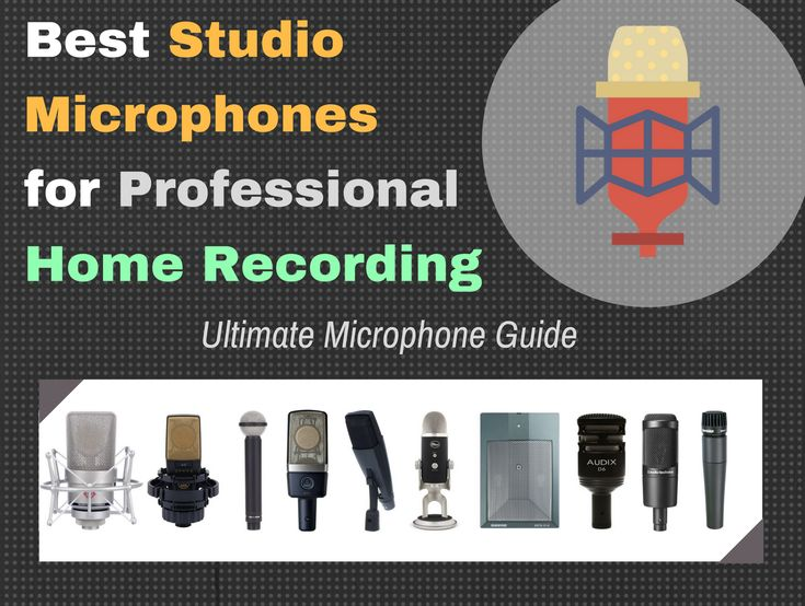 If you're looking for a new microphone for your studio, check out this buyer's guide for a list what your next microphone should be!