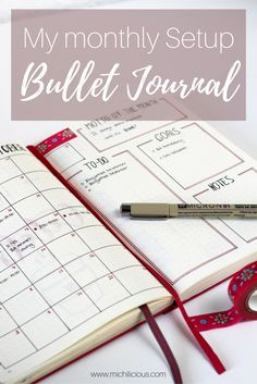 See how I set up my bullet journal for the upcoming month of october!