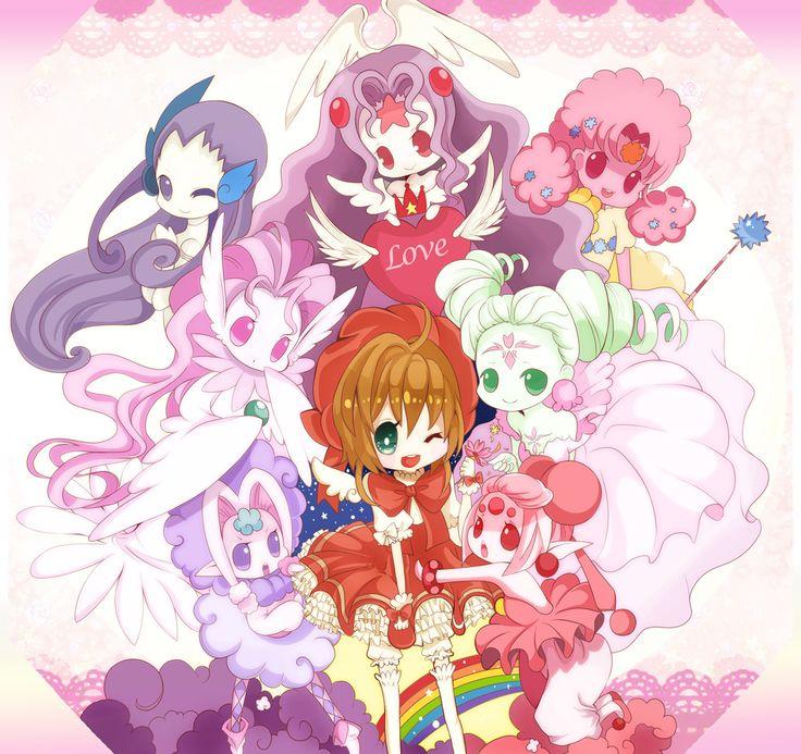 cardcaptor sakura, sakura kinomoto, the voice, the song, the cloud, the hope, the sweet, the flower, the power