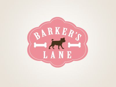 -Repinned-Pet logo for Barker's Lane - An upscale pet boutique in Florida. (by sniff design)