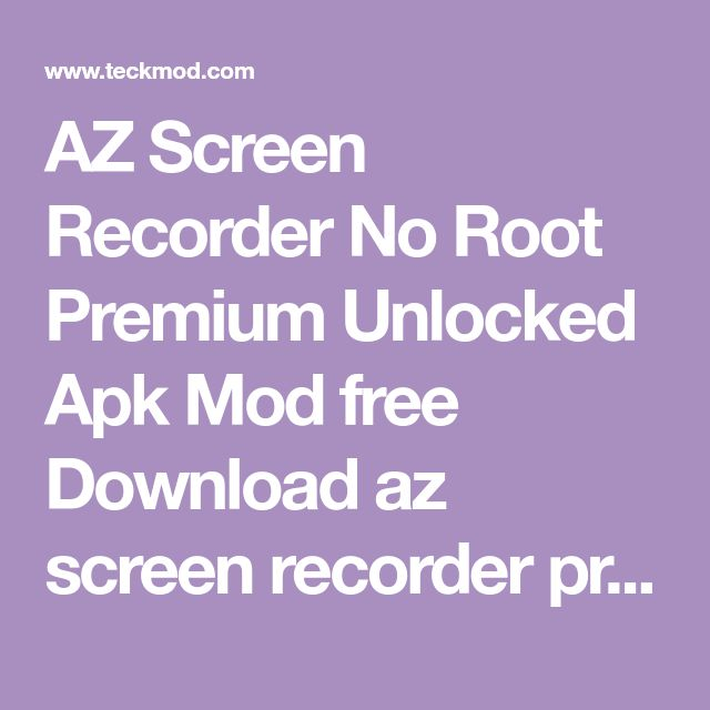 screen recorder mod apk free download
