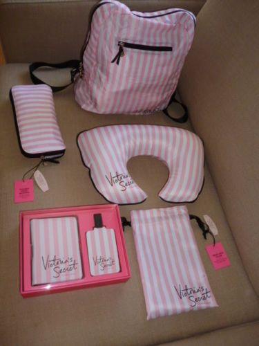Victorias-Secret-Set-De-Viaje-Porta-Pasaporte-Mochila-etiqueta-del-equipaje-cuello-Almohada