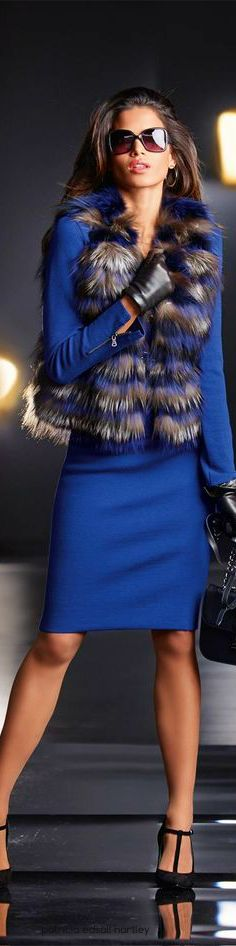 Madeleine blue coat. women fashion outfit clothing style apparel @roressclothes closet ideas