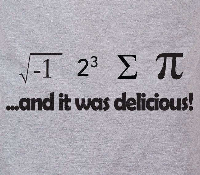 I ate some pie and it was delicious - eight sum Pi math nerdy humor tee t-shirt. $14.98, via Etsy.