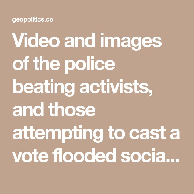 Video and images of the police beating activists, and those attempting to cast a vote flooded social media as voting began in Barcelona in the early hours of Sunday morning.