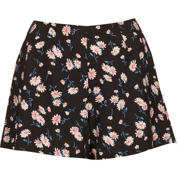 TOPSHOP Daisy Shorts by Band of Gypsies (170 PEN) ❤ liked on Polyvore featuring shorts, bottoms, skirts, pants, multi dark, woven shorts, daisy shorts, topshop shorts, topshop and daisy print shorts