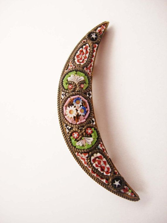Antique Victorian Mosaic Brooch Micro Signed by NeatstuffAntiques, $35.00