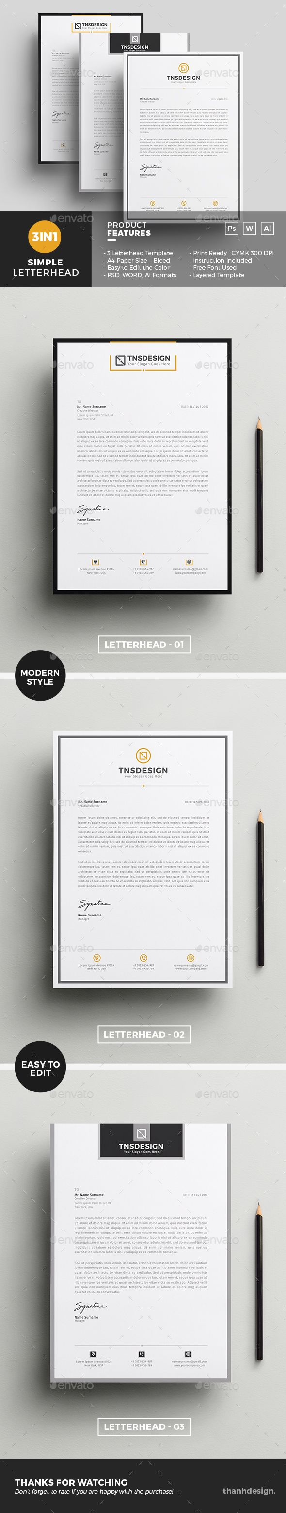 105 best letterhead template images on pinterest letterhead letterhead template spiritdancerdesigns Choice Image
