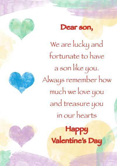 Dear son HAPPY Valentine's Day