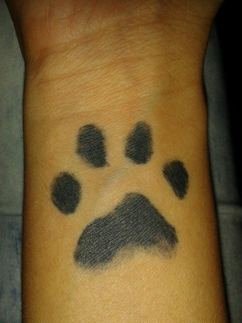 Paw print tattoo placement i like the look but the idea for Heebie jeebies tattoo