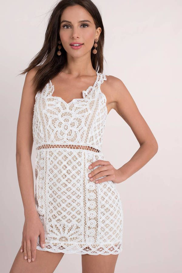 b5cf1f33899 Looking for the Only One White Lace Bodycon Dress