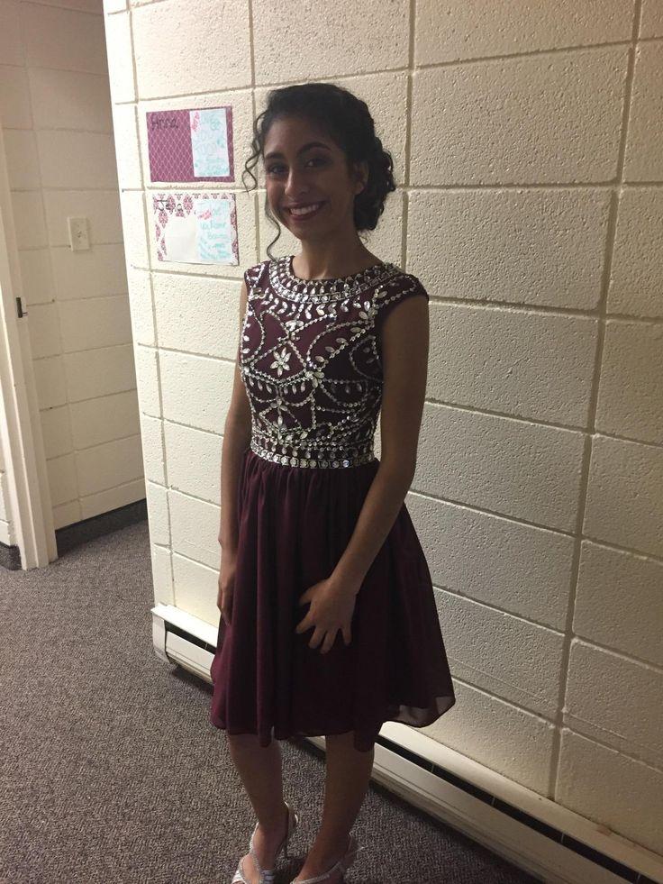 Short Homecoming Dress,Burgundy Homecoming Dress,Beaded Homecoming Dress,Junior Homecoming