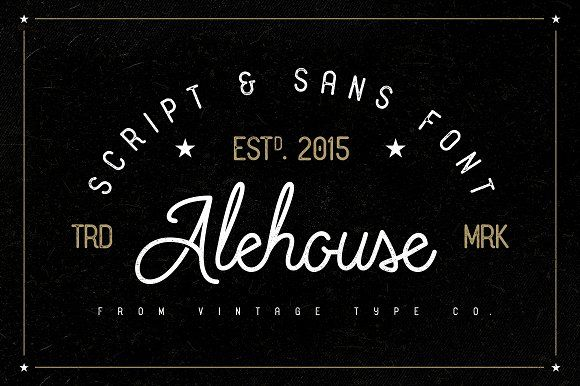 Alehouse Combo Font - Display