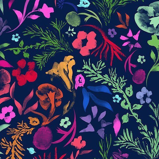Navy Floral | Husna Khan | tropical floral, ball skirt