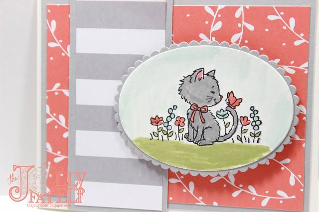 The Jolly Fat Elf: Stampin' Up! Pretty Kitty and A Little Foxy Card #2