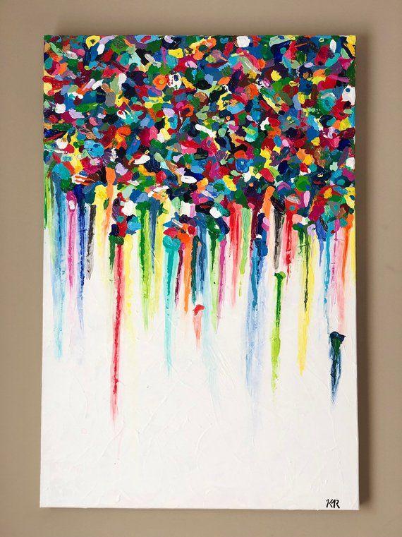 Original Textured Abstract Canvas Art Glossy Abstract Art