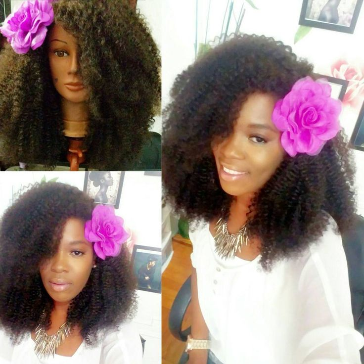 """3 bundles of 24"""" curly natural hair weaves W/ a 18"""" Closure"""