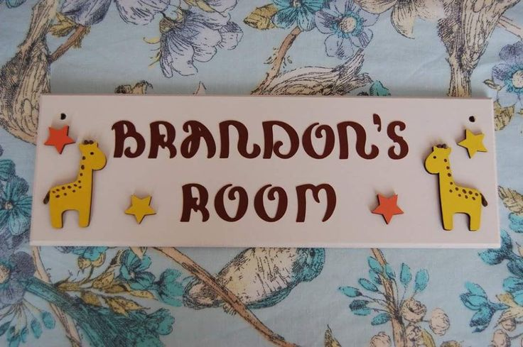 Giraffe Nursery Bedroom Kids Door Name plaque Name Sign Personalised. Any Name/ Names Any colours. Boys Girls Decor Giraffes Baby by FairylandDecor on Etsy