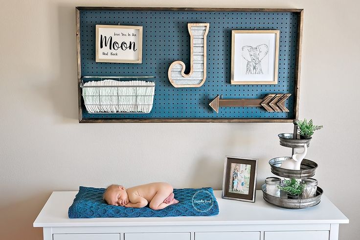 DIY Pegboard Boy Nursery Danielle Bond Photography Navy and White Nursery