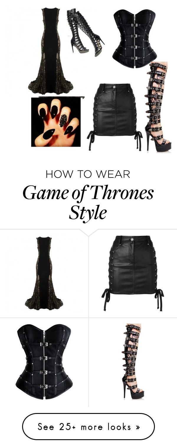 """""""Untitled #728"""" by amandamoser on Polyvore featuring Lorena Sarbu, Current Mood and Versus"""