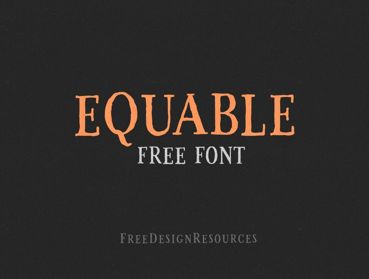 Equable Free Retro Font