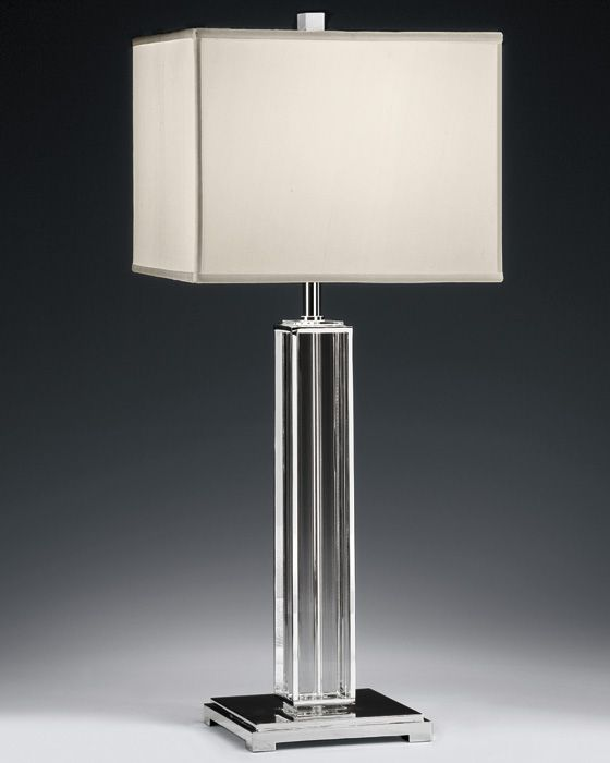 silver-plated solid crystal lamp; modern home lighting; modern and contemporary table lamps