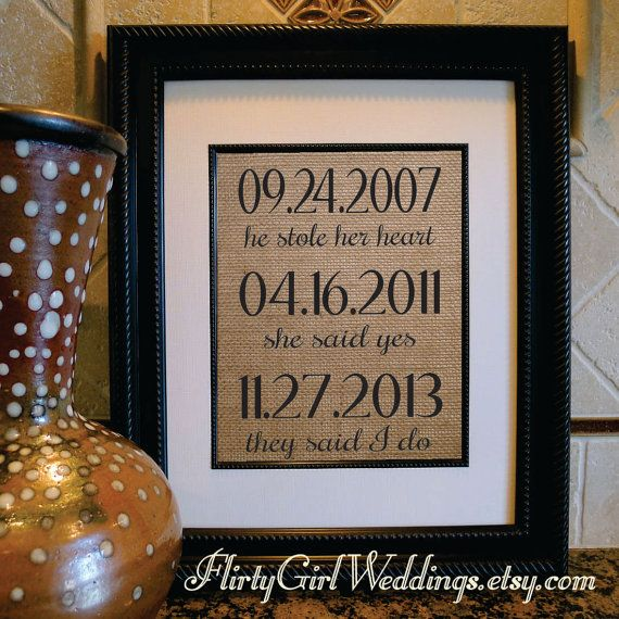 14 best burlap wedding prints images on pinterest cotton what a difference a day makes burlap print family dates anniversary gift housewarming gift personalized family name sign negle Choice Image