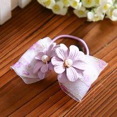 cintas para el pelo arco joyas pequeñas joyas de lavanda pelo Coreano pinza de hilo de pelo anillo de la nieve de la horquilla S028
